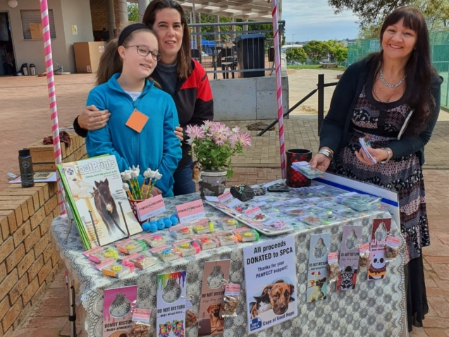 Amy and her SPCA project to raise support.